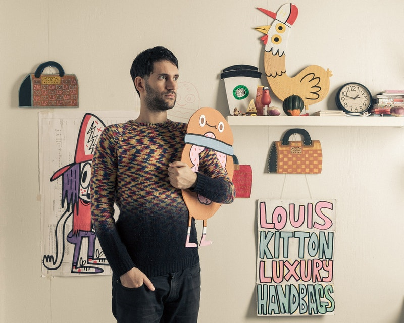 Jon Burgerman in his studio