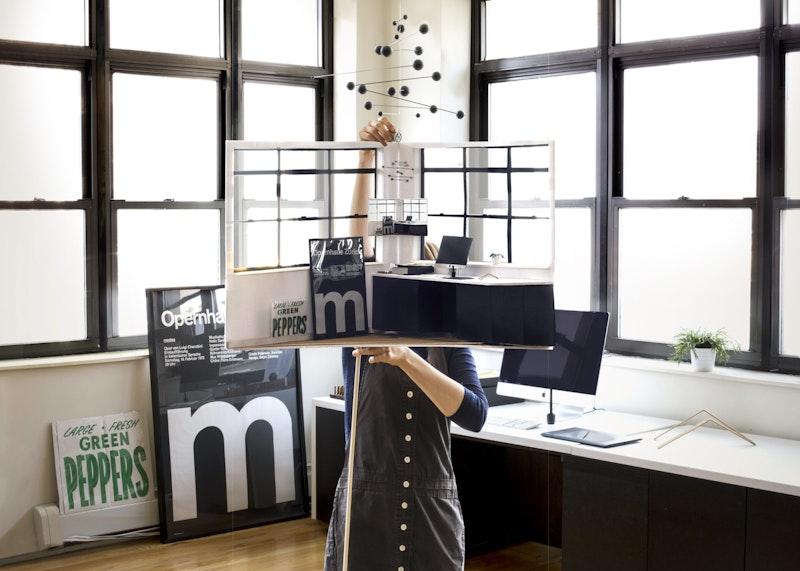 Kelli Anderson in her studio