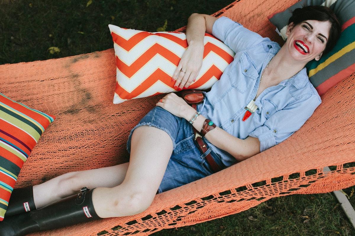 Ruthie in hammock