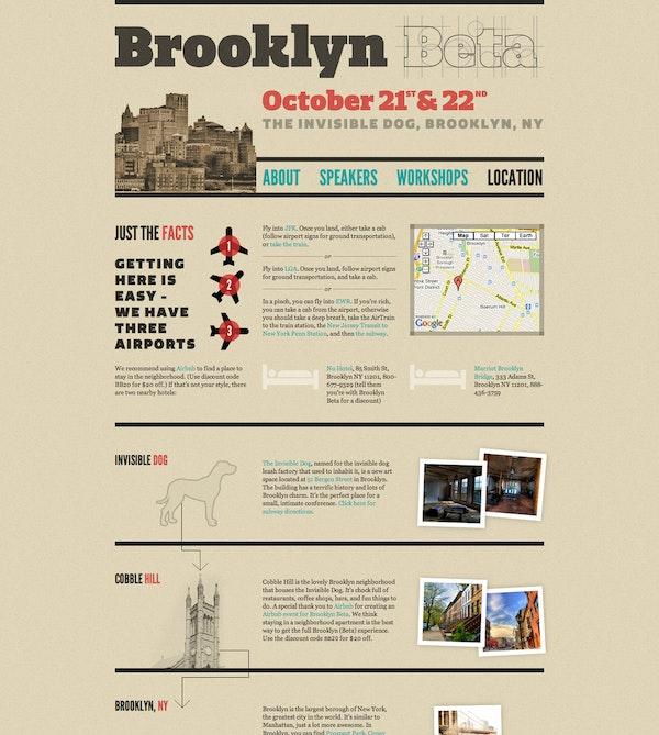 Brooklyn Beta website, 2010