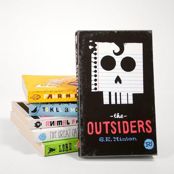 Illustrative reinterpretation of classic book covers