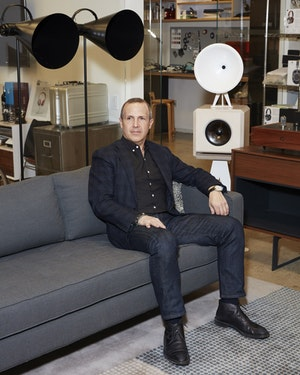 Jonathan Levine at the Master & Dynamic office in New York City