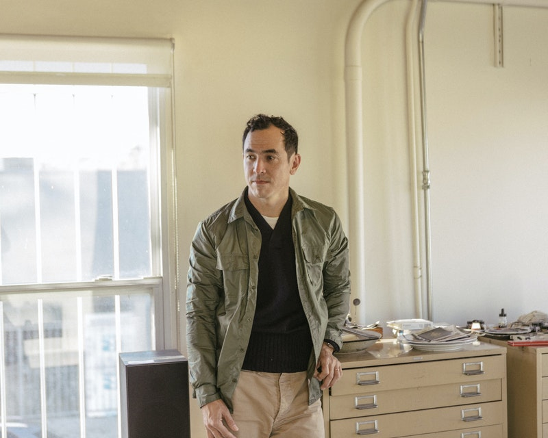 Geoff McFetridge in his studio