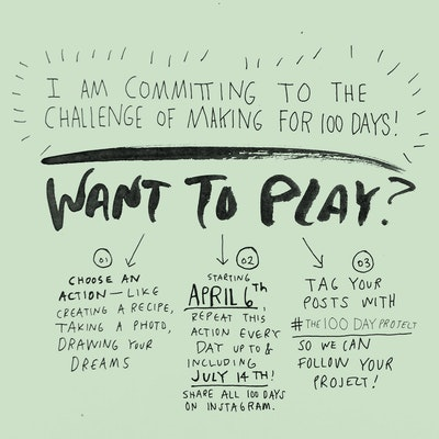 #The100DayProject pledge image